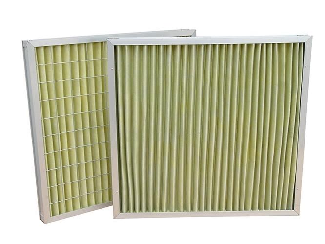 金属外框板式耐高温过滤器